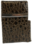 Brown Moc Croc Cigarette Case