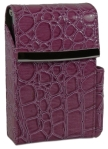 Purple Moc Croc Cigarette Case