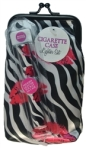 Zebra & Lips Cigarette Case with Lighter